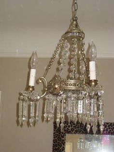 Silver chandelier $550