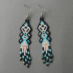 Ethnic style seed bead earrings by Anabel27shop on Etsy,