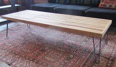 Reclaimed Wood Surfboard Coffee Table. $365.00, via Etsy.
