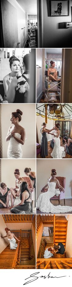Masha prepares at home, accompanied by some gorgeous bridesmaids, and then has a first look with her man, Eugene.