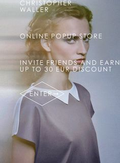Christopher Waller pop-up shop on LOOKK