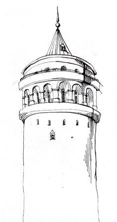 174 En Iyi Galata Kulesi Ve Cizimleri Görüntüsü Istanbul Tower Ve