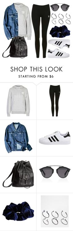 """""""Style #11660"""" by vany-alvarado ❤ liked on Polyvore featuring adidas, Topshop, adidas Originals, H&M, Christian Dior, River Island and ASOS"""