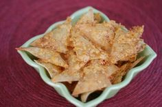 Chipotle Cheddar Chips... A nice use for extra wonton wrappers