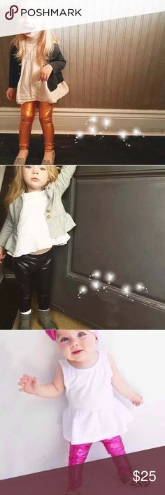 Gold Shiny Leggings Toddler Brand new! Amazing leggings that will make your child feel like a rockstar!! Ships same day if ordered by 10:00 CST. Bundle 3 items and save 15%. Bottoms Leggings
