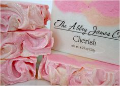 Cherish Gourmet Soap Abbey James Spring Soap by AbbeyJames on Etsy, $6.75 Cherish is a gorgeous, clean, fresh floral blended with white musk and light citrus. It is absolutely lovely without being overpowering.