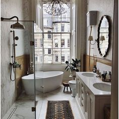 penthouse bathroom Modern Home Interior Design, Dream Home Design, House Design, Loft Design, Bad Inspiration, Bathroom Inspiration, Bathroom Ideas, Bathroom Goals, Vintage Bathroom Decor