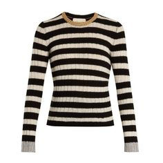 ab979cf79a Gucci Striped cashmere and wool-blend sweater ( 835) ❤ liked on Polyvore  featuring