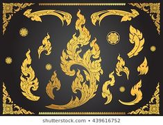 Find Set Thai Art Element Ethnic Art stock images in HD and millions of other royalty-free stock photos, illustrations and vectors in the Shutterstock collection. Thousands of new, high-quality pictures added every day. Pattern Images, Pattern Art, Thai Design, Thai Pattern, Thai Art, Thai Thai, Buddha Art, Marble Art, En Stock