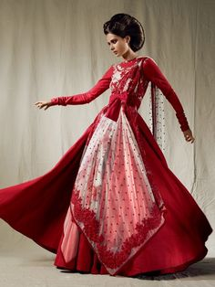 Sabyasachi Mukherjee inspired by the European fashions of 20s and 50s. From Vogue India 365.