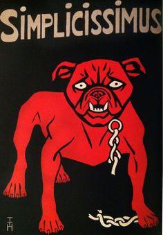 technique: 2 colours, use of white, unprinted paper, reversed light out of dark. Broken Chain, Satire, 2 Colours, Art History, Joker, Posters, Magazine, Superhero, Dog