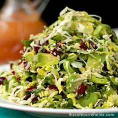 The Café Sucré Farine: Avocado & Shaved Brussels Sprout Salad w/ Honey-Ginger Vinaigrette