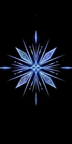 Frozen 2, snowflake, minimal, 1080x2160 wallpaper