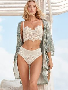 4473475fd0 Mini Lace Bustier and Panties - Dream Angels - Victoria s Secret - Bra in  in Medium - in Off White Color