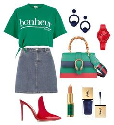 """""""Why not?"""" by mair-3 on Polyvore featuring A.P.C., River Island, Gianvito Rossi, Gucci, Tommy Hilfiger, Rebecca de Ravenel, Balmain and Yves Saint Laurent"""