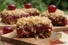 Oatmeal with sour cherry, yummi- zabpelyhes meggyes süti Diabetic Recipes, Diet Recipes, Cake Recipes, Vegan Recipes, Cooking Recipes, Healthy Cake, Healthy Desserts, Muffin, Cooking Cake