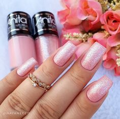 Have you discovered your nails lack of some trendy nail art? Yes, recently, many girls personalize their nails with lovely … Glitter French Manicure, Gel Manicure, French Nails, Glitter Nails, Glitter Art, Heart Nail Designs, Nail Art Designs, Sns Nails Colors, Popular Nail Art