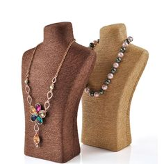 Resin Frame of Necklace Stand with Linen Cloth wrapping. Brown/beige colours are much in stock from Winnerpak. Beige Color, Brown Beige, Linen Cloth, Beaded Necklace, Luxury, Wrapping, Resin, Colours, Jewellery