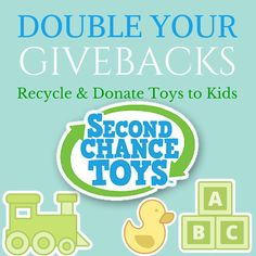 Double Your Givebacks! Recycle and Donate Toys to Kids with Second Chance Toys | @niecyisms @SecondChanceToy