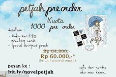 From @novelpetjah -  UPDATE PRE-ORDER PETJAH  Hai semuanya... IFTTT Tumblr
