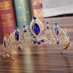 Wedding Bridal Crystal Tiaras Crowns Princess Pageant Prom Rhinestone Veil Headband Accessories - All For Hairstyles DIY Hair Jewelry, Bridal Jewelry, Women Jewelry, Jewelry Model, Rhinestone Jewelry, Crystal Rhinestone, Jewelry Art, Jewellery, Bridal Crown