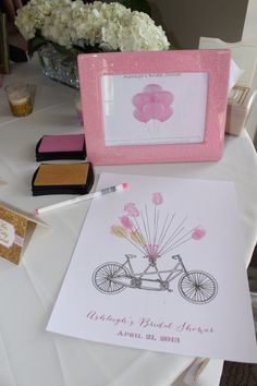 Glamorous Bridal Shower guest book