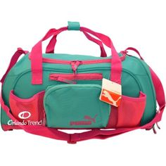 Puma Accelerator 20 inch Pink and Teal Green Duffel Bag PWV11012 for $40.00 at OrlandoTrend.com #OrlandoTrend