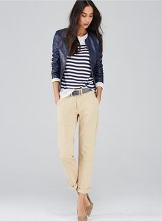Work pants, smart casual outfit, casual chic style, sporty chic, ca Smart Casual Outfit, Classy Casual, Casual Chic Style, Look Chic, Casual Wear, Sporty Chic, Chic Outfits, Spring Outfits, Fashion Outfits