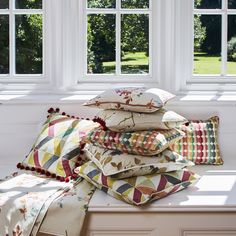 The beauty of nature all year round is depicted in the new Seasons series of printed cottons for home furnishings and accessories. Stuart Graham, Prestigious Textiles, Naturally Beautiful, Stores, Decoration, Printed Cotton, Home Furnishings, Throw Pillows, Seasons