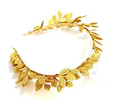 Amazon.com: OUMOU Women's Gold Leaf Headband - Bridal Tiars and Crown for Party and Evening: Clothing
