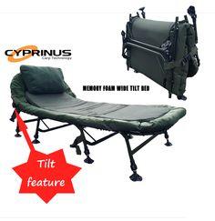 e6f51c0eaf2 X-Wide 8 Leg Tilt Memory Foam Bedchair. Cyprinus Carp Fishing Tackle