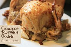 Mostly Homemade Mom: Crockpot Rotisserie Chicken