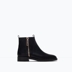 Image 1 of BASIC LEATHER ANKLE BOOTS from Zara