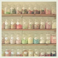 candy shop--love the jars!