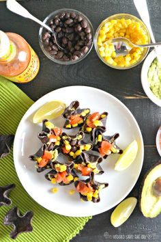 Mini Guacamole & Black Bean Tostadas are almost as fun to make as they are to eat!
