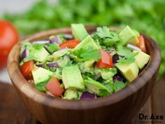 This super cilantro guacamole is high in anti oxidants which fight free radicals, helps support the body in detoxification and has anti microbial properties