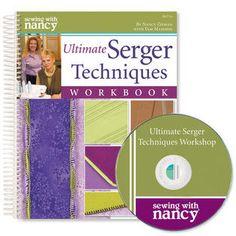 Nancy Zieman Sewing With Nancy Ultimate Serger Techniques Workbook