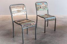 Chaise en bois recyclé Gara