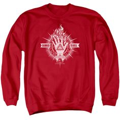 CONSTANTINE/DAMED TO HELL - ADULT CREWNECK SWEATSHIRT - RED -