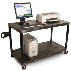 Luxor LEW28 Laminator Work Center Cart. The Luxor LEW28 laminator work center cart offers an excellent way to keep your laminating machine and supplies portable for easy movement. With the Luxor LEW28 mobile cart you can easily transport and store heavy equipment quickly and easily. Featuring heavy-duty molded plastic construction, aluminum reinforcements, and a lifetime manufacturer warranty, the Luxor LEW28 mobile work center easily holds up to any job you may have