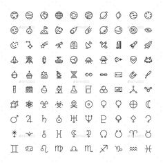 The Space & Science Icons 100 by The Store on Creative Market Die Space & Science Icons 100 von The Store auf dem Kreativmarkt Mini Drawings, Doodle Drawings, Easy Drawings, Tattoo Drawings, Cute Small Drawings, Kritzelei Tattoo, Doodle Tattoo, Icon Tattoo, Little Doodles
