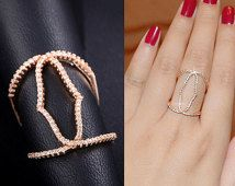 Thin Micro Pave Cubic Zirconia Ring Hollow Ring Lace Oval Ring Geometric Ring Stacking Ring Wave Ring Diamond Fancy Party Everyday, AR0050A