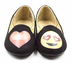 81620acc09aba Simply Petals Girl s Emoji Heart Love Smoking Slipper Flats (Big Kid Little  Kid) in Black Size  1 Little Kid M