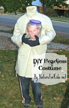 DIY Headless Halloween Costume Using Deuter Backpack | Nature For Kids