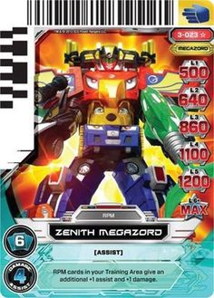 power rangers cards megazord - Bing images