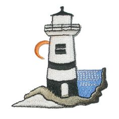 Iron On Patch Applique - Lighthouse * $1.25