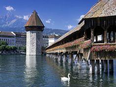 Chapel Bridge, Lucerne, Switzerland