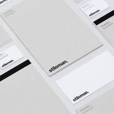 Brand Identity and collateral for Stileman using a collection of @gfsmithpapers