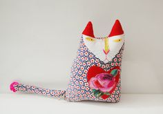 The cat's meow! Textile #Art Cat Called Percival by @Materialised Creative Studio on Etsy #bestofetsy #handmadebot