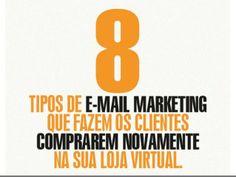 8 Tipos de eMail Marketing que fazem os clientes comprarem novamente na sua loja virtual. by Ricardo  Jordao Magalhaes via slideshare
